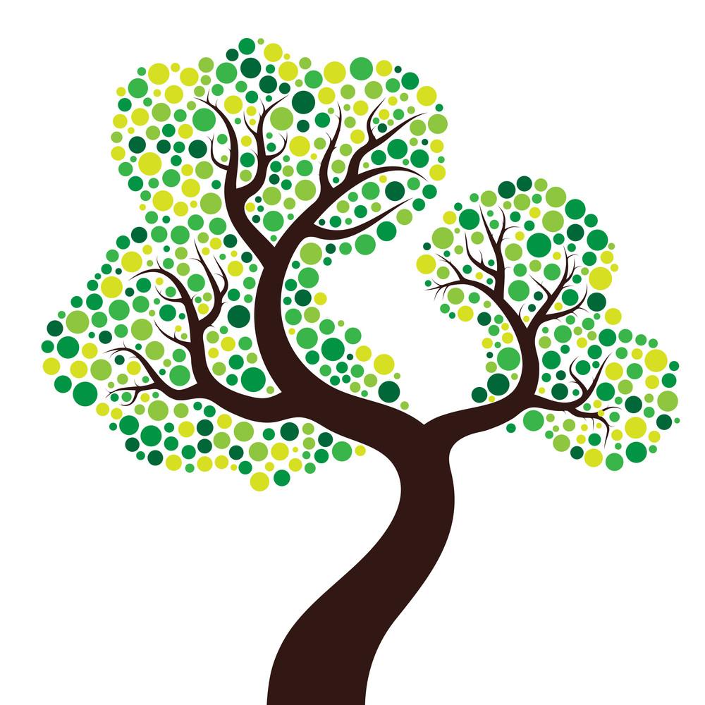 Tree Made Of Circles