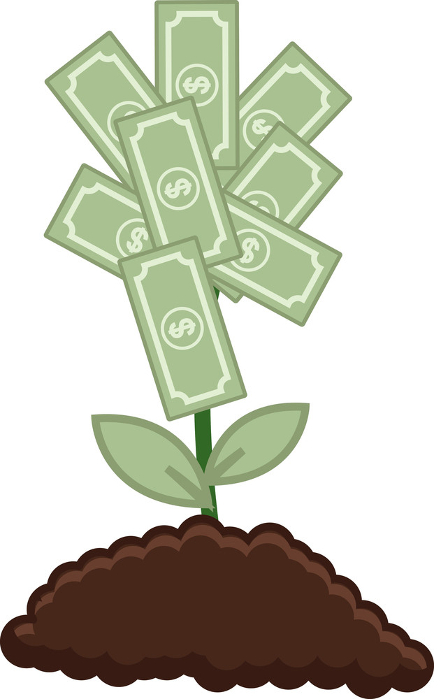 Tree Of Money - Vector Illustration