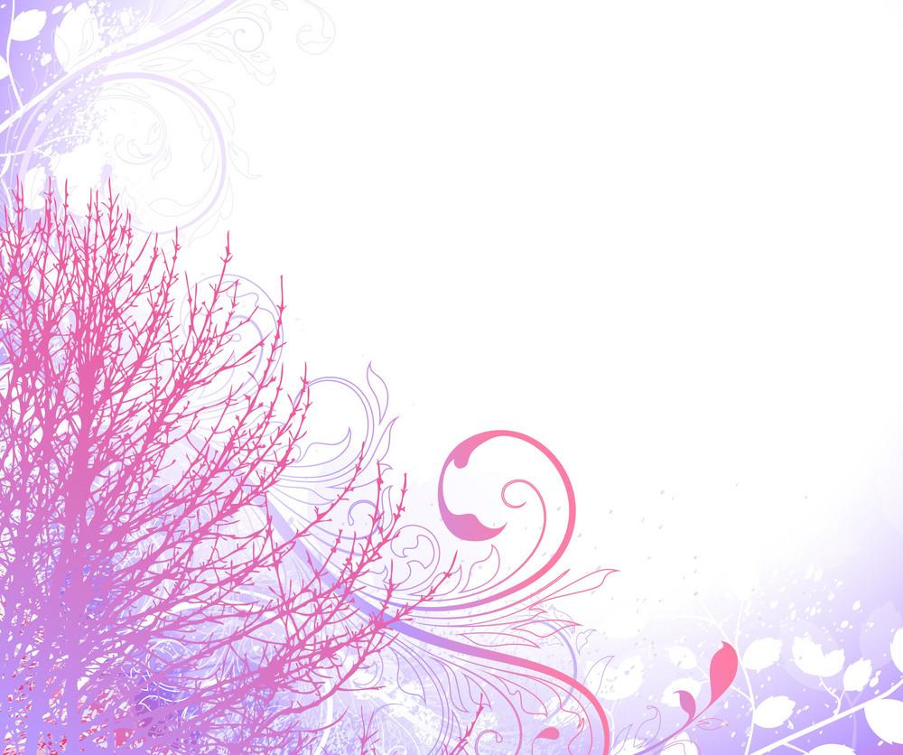 Tree On Grunge Background Vector Illustration