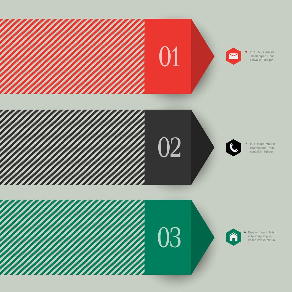 Trendy Banner Design For Infographics