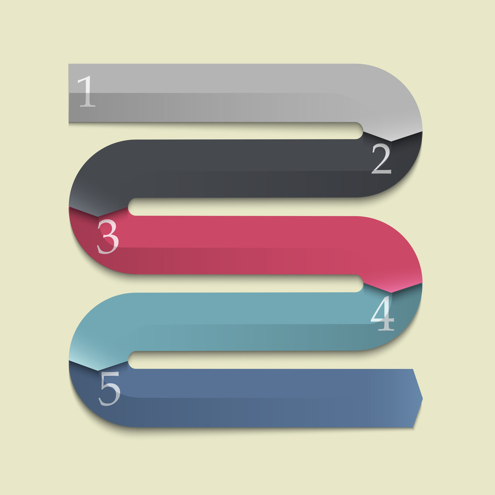 Trendy Design Banners-arrows For Infographics