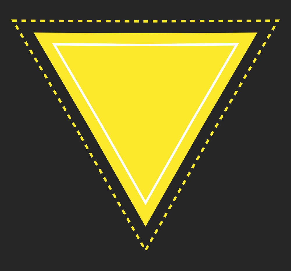 Triangle Label Banner