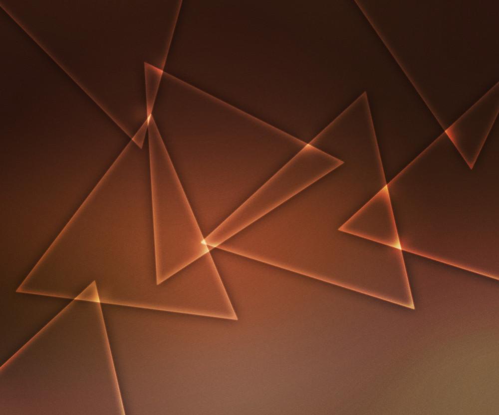 Triangles Orange Light Shapes Background