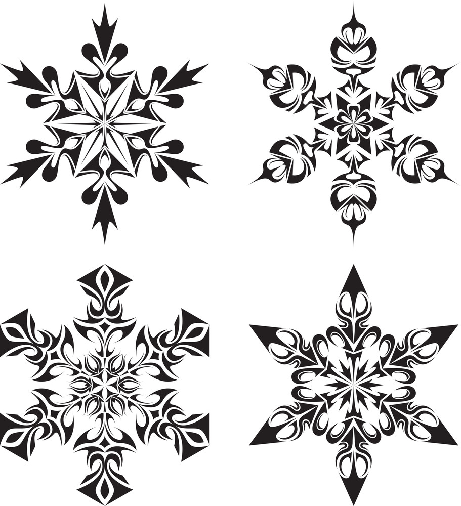 Tribal Snow Flakes