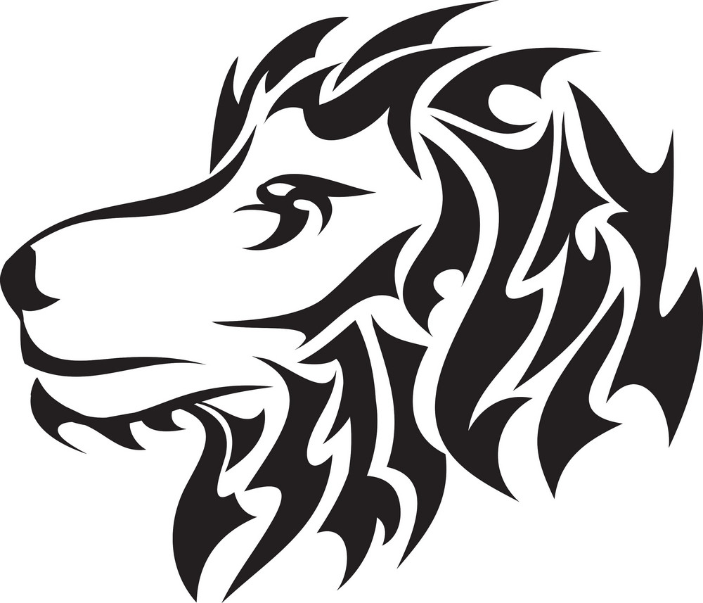 Tribal Vector Element With Lion Head