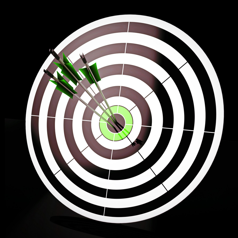 Triple Dart Shows Winning Shot And Achievement