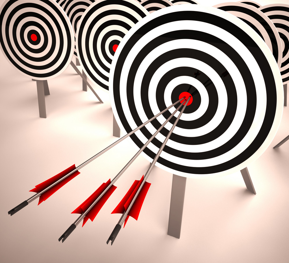Triple Target Shows Accuracy, Aim And Skill