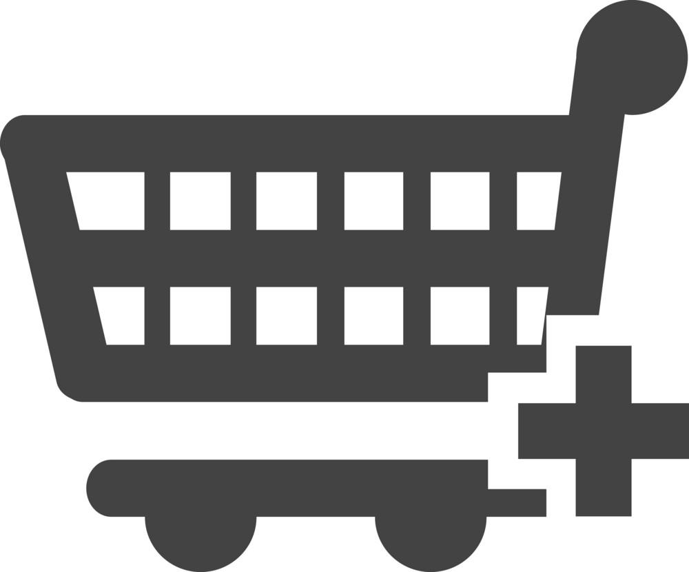 Trolley Add Glyph Icon