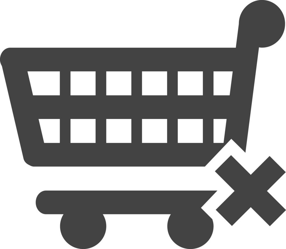 Trolley Delete Glyph Icon