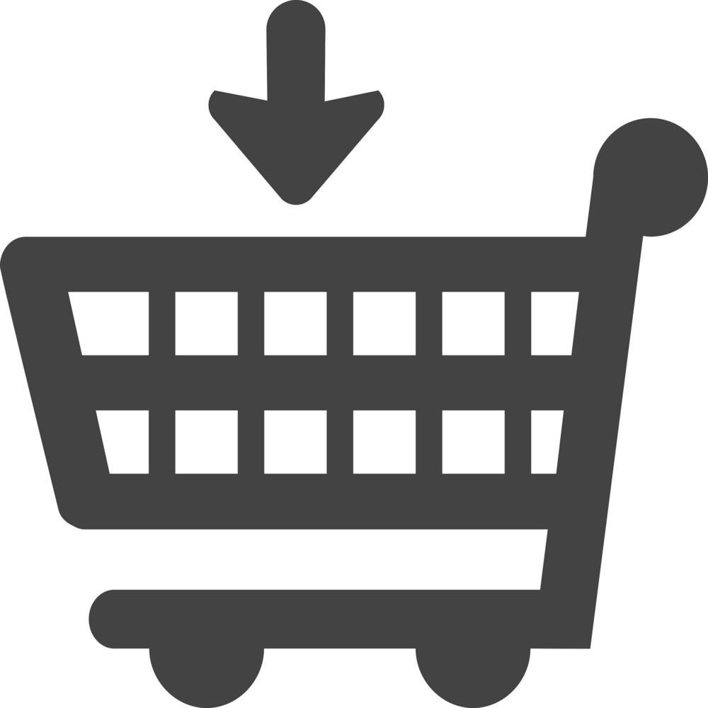 Trolley Down Glyph Icon