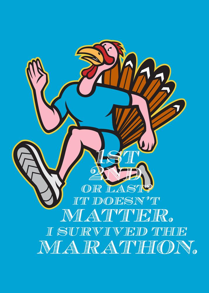 Turkey Marathon Runner Poster