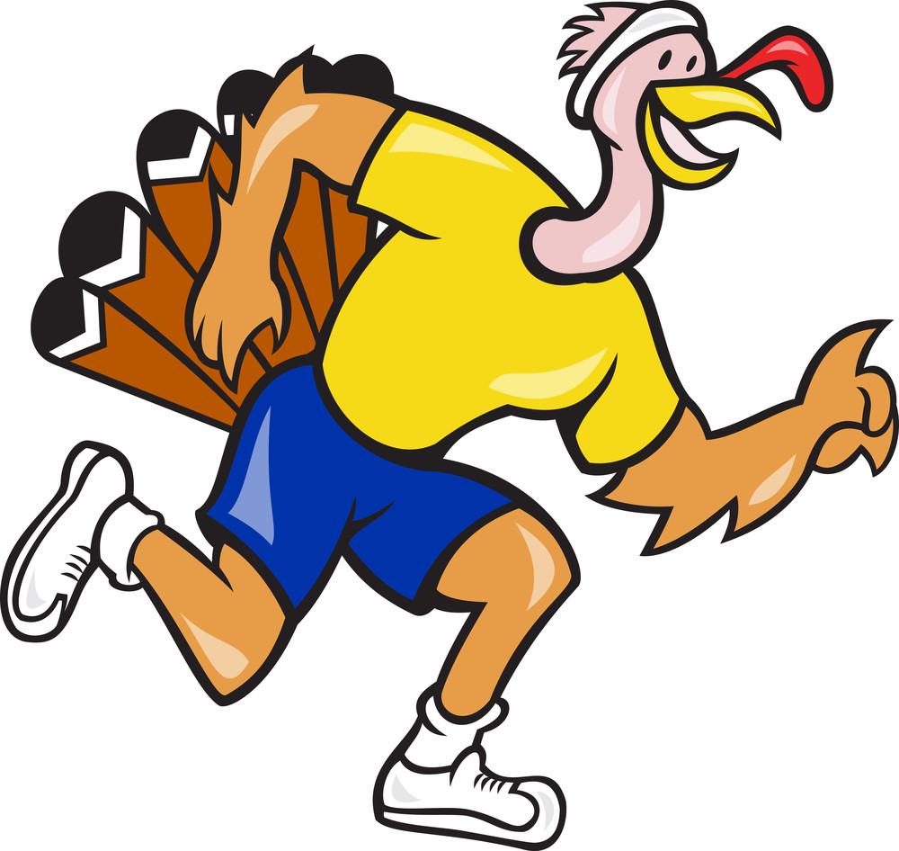 Turkey Run Runner Side Cartoon