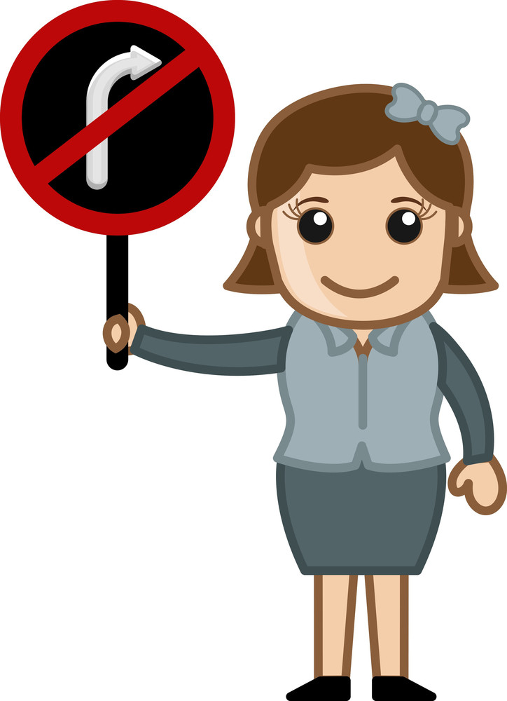 Turn Not Allowed Vector