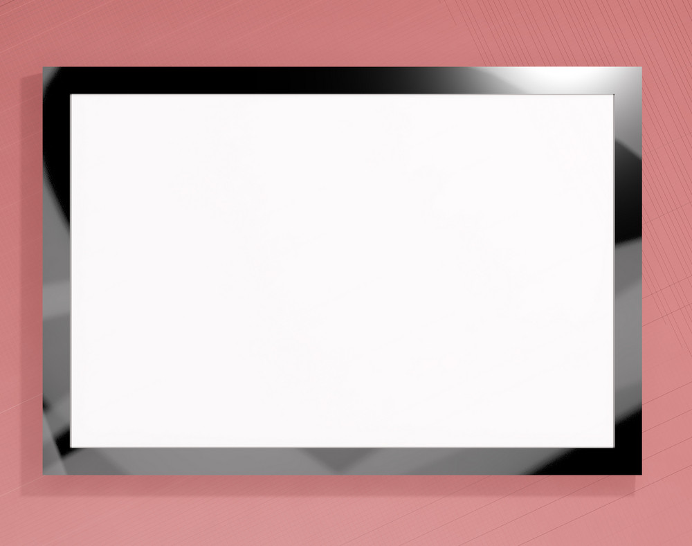 Tv Monitor With White Blank Copyspace Or Copy Space