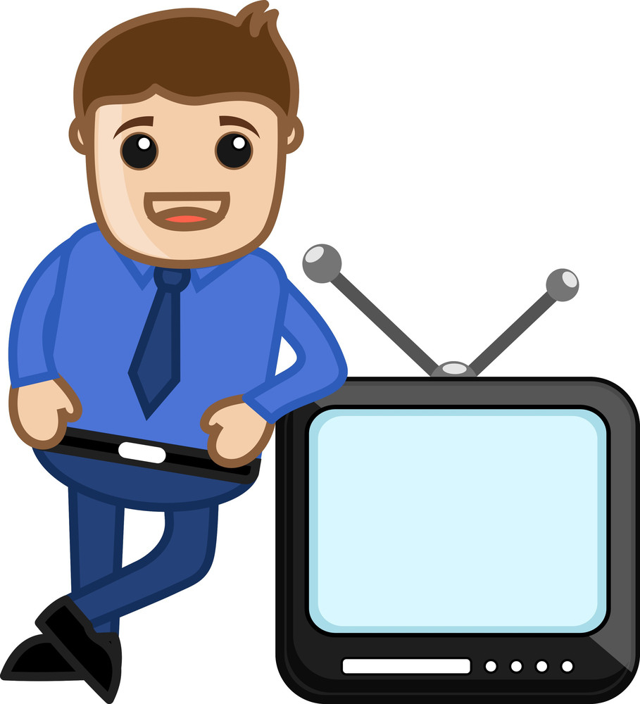 Tv Presenter - Vector Illustration