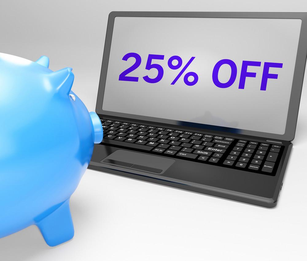 Twenty-five Percent Off On Notebook Shows Price Bonus
