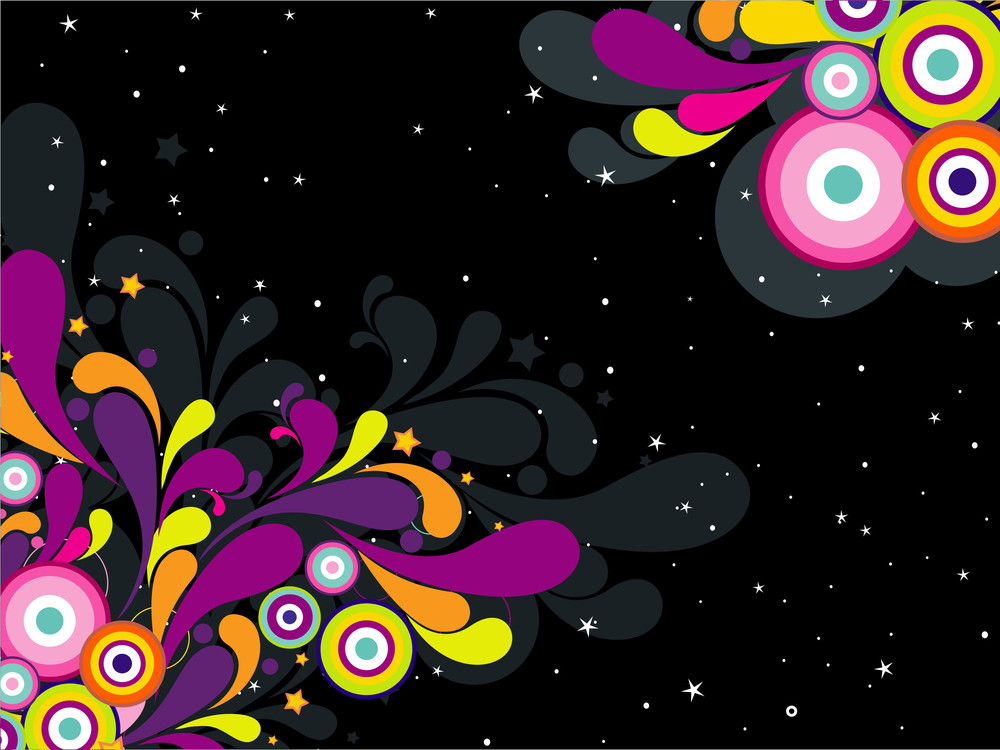 Twinkle Star Background With Colorful Artwork