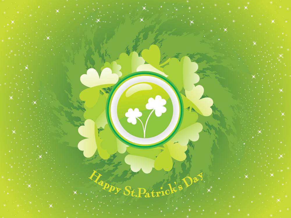 Twinkle Star Background With Shamrock