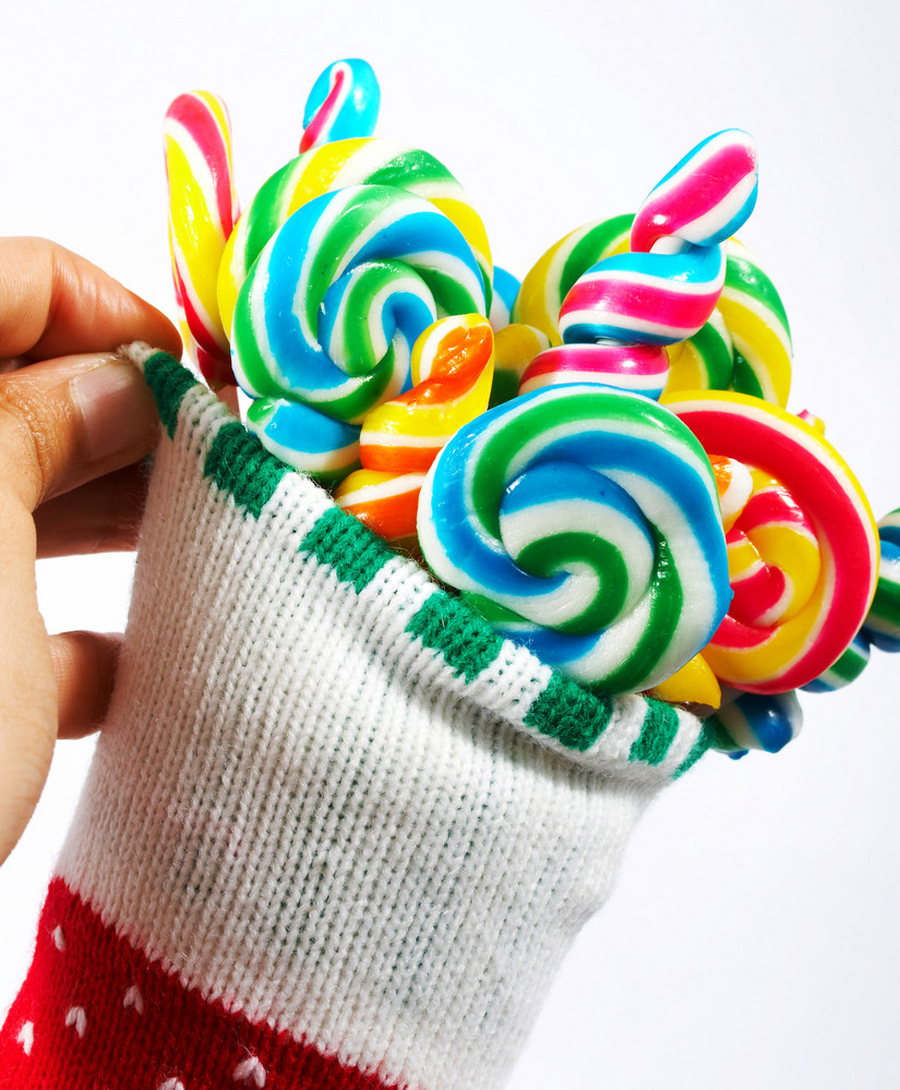 Twisted Colored Candy For Christmas