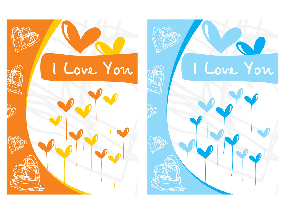 Two Balloons Design Love Card