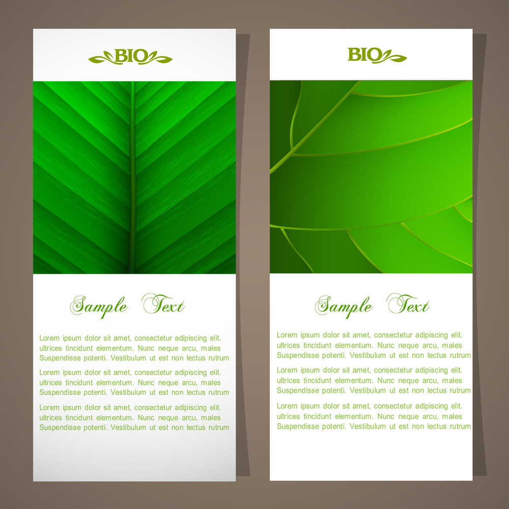 Two Bio Banners