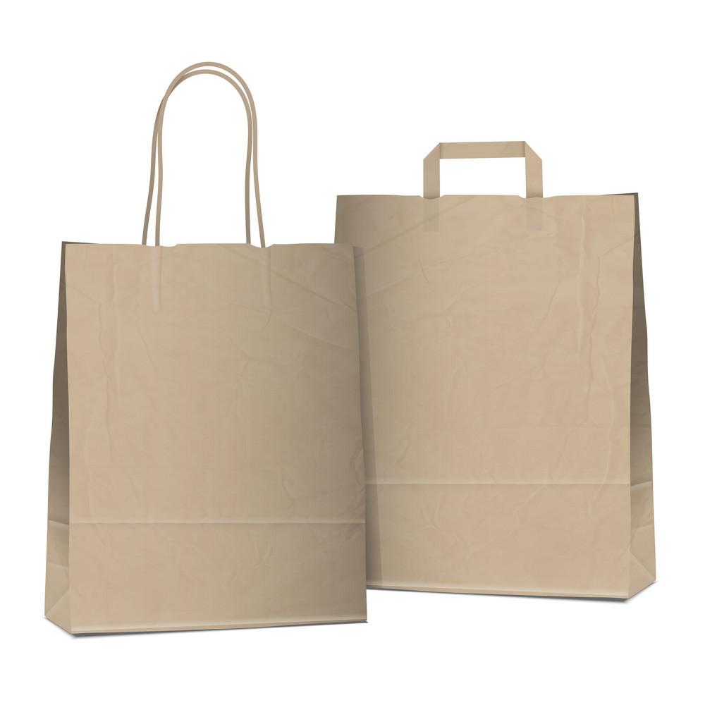 Dois sacos vazios de compra de Brown