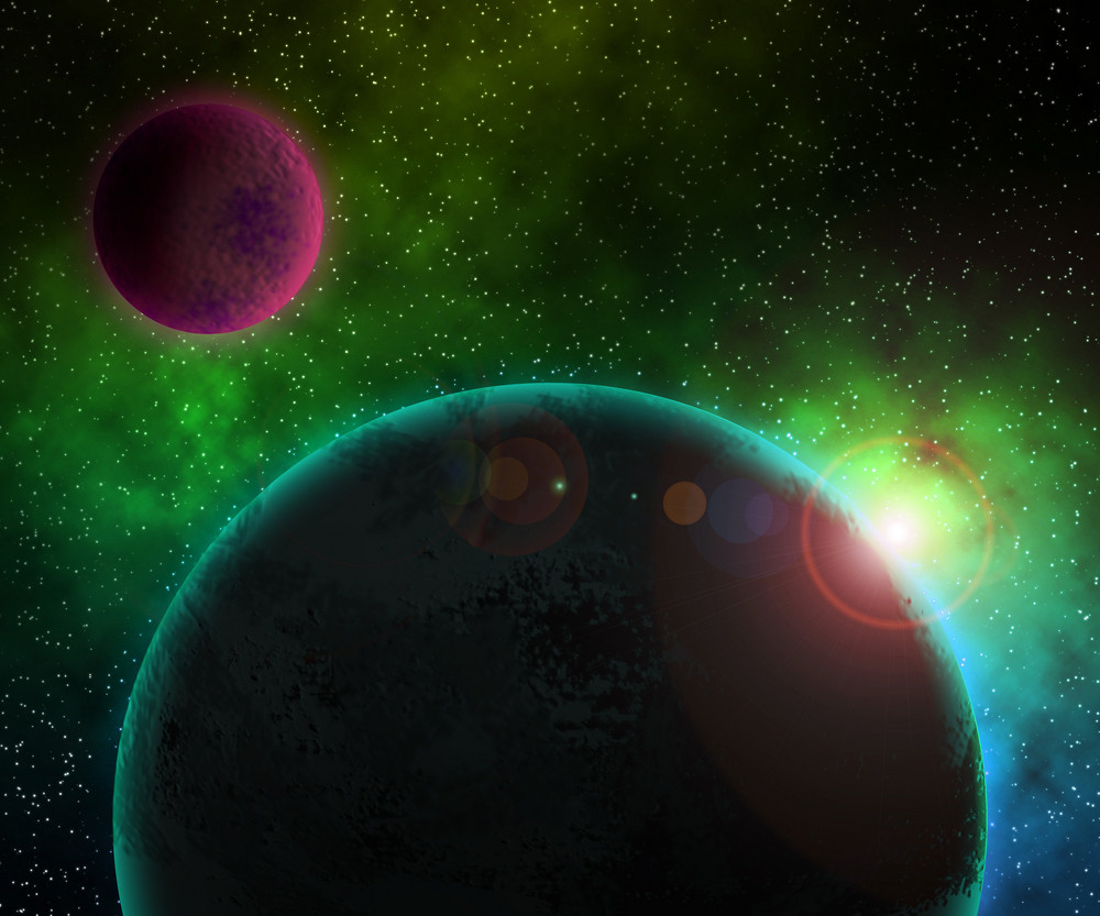 Two Planets Cosmic Background