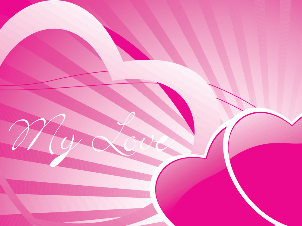 Two Romantic Pink Hearts