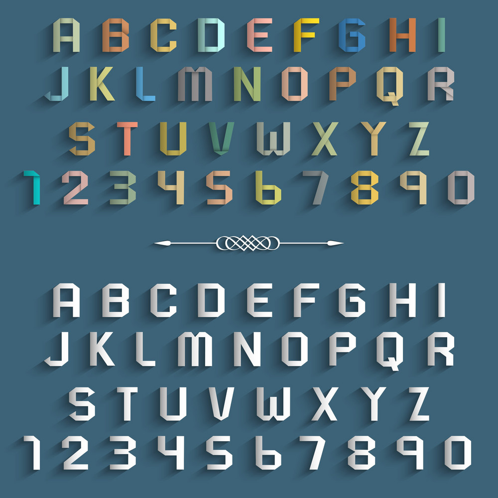 Origami alphabet, with folding instructions. | Alfabeto, Papelaria | 1000x1000