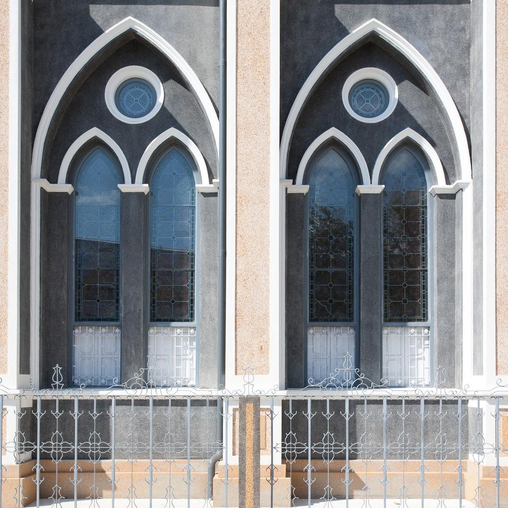 two windows in church