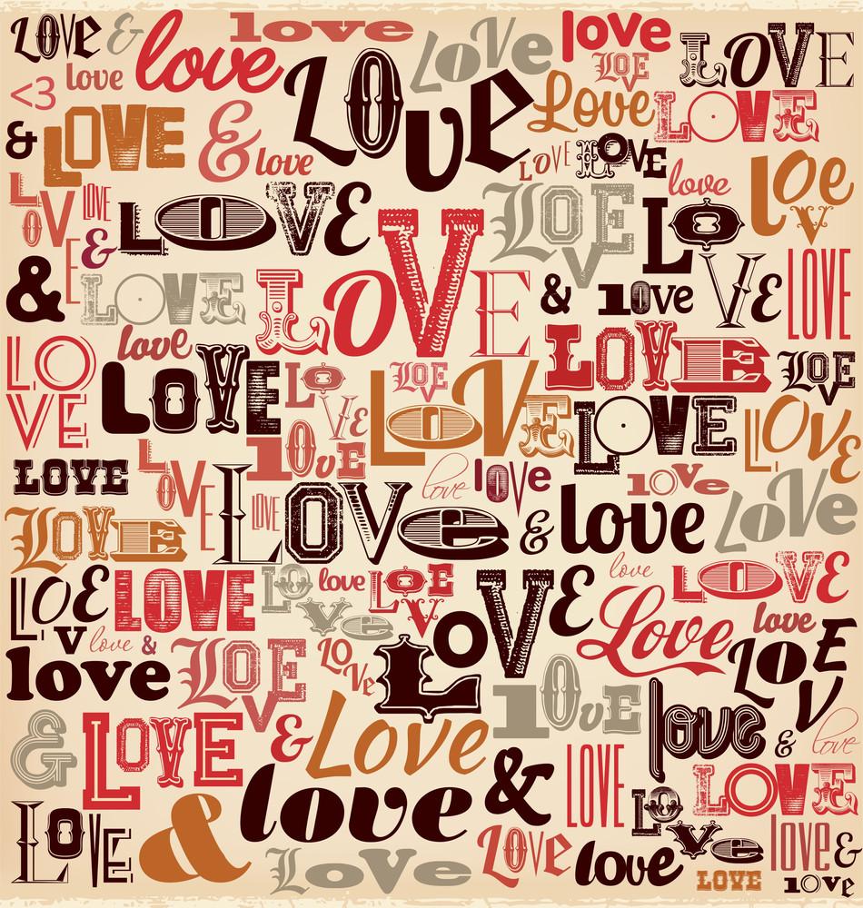 Typografische Valentinstag Entwurf
