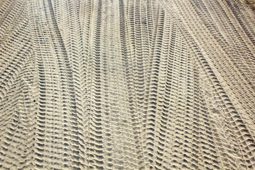 Tyre Prints On Soil