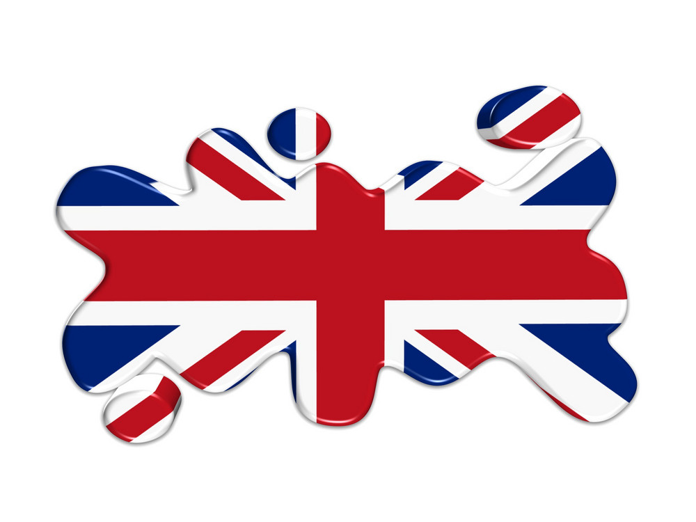 Uk Flag Button 3d
