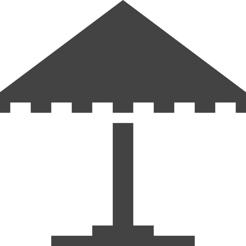 Umbrella 3 Glyph Icon