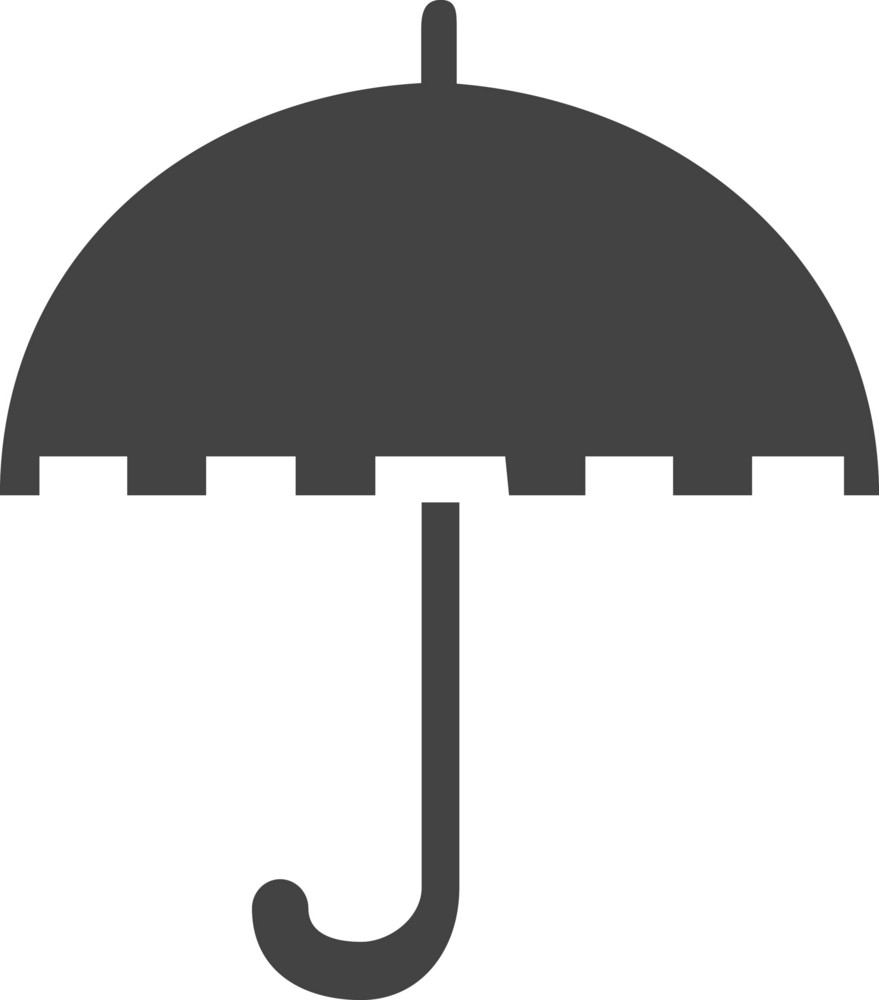 Umbrella 4 Glyph Icon