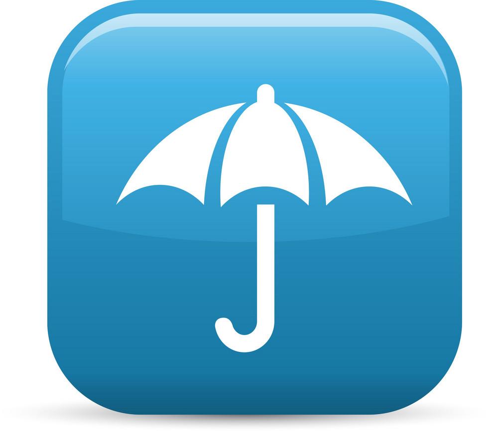 Umbrella Elements Glossy Icon
