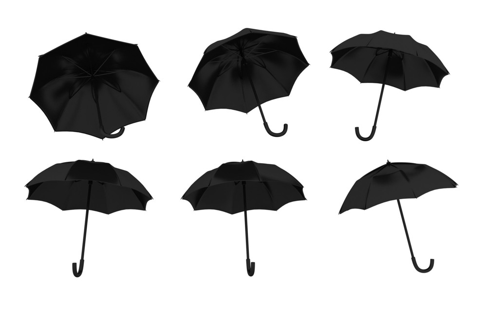 Umbrella In Various Angles