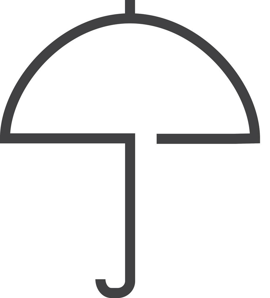 Umbrella Minimal Icon
