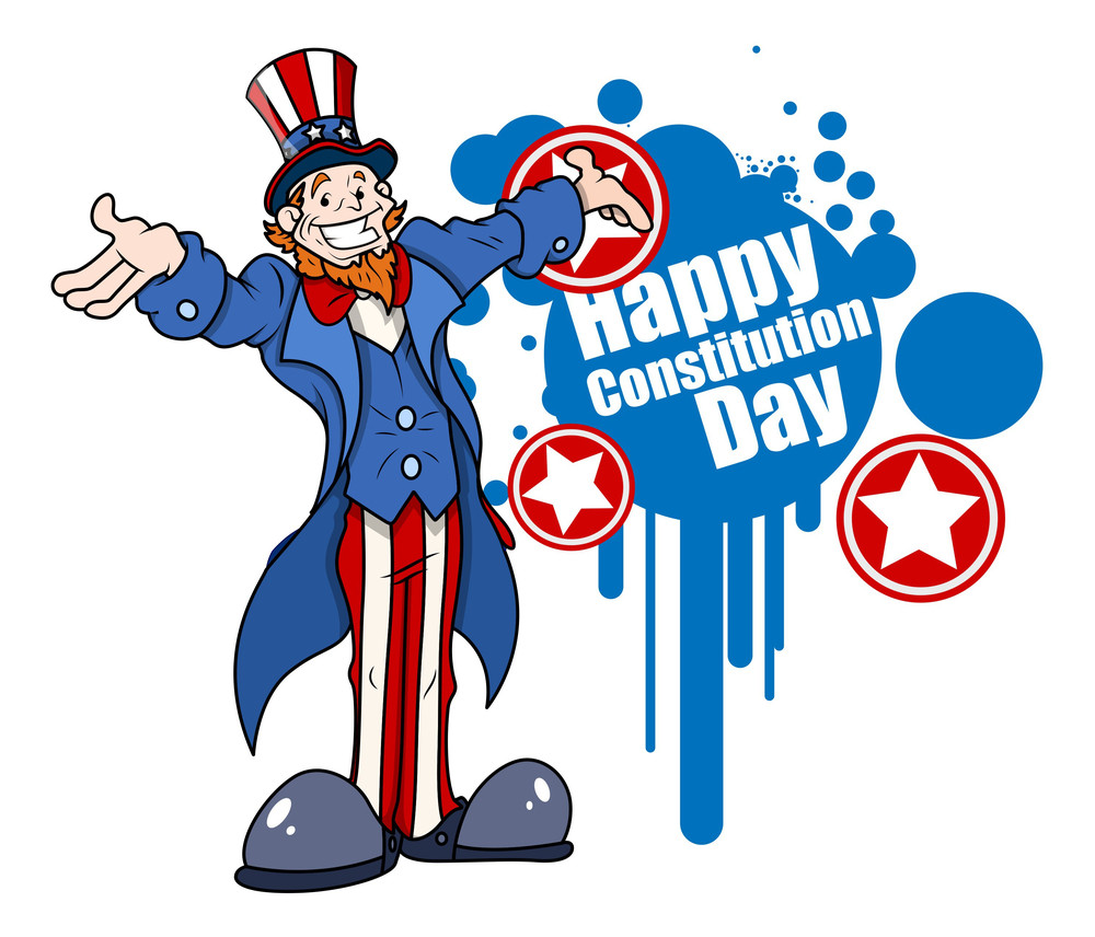 Uncle Sam Constitution Day Vector Illustration