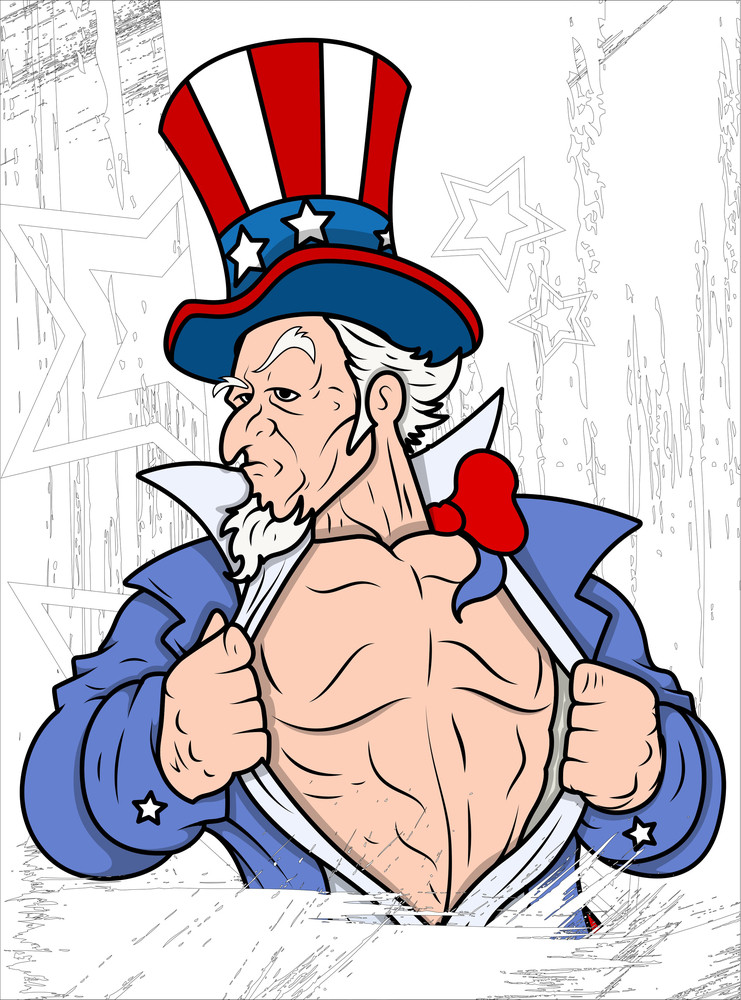 Uncle Sam Portrait 4th Of July Vector Theme Design