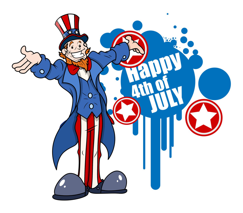 Uncle Sam Wishes Happy 4th Of July