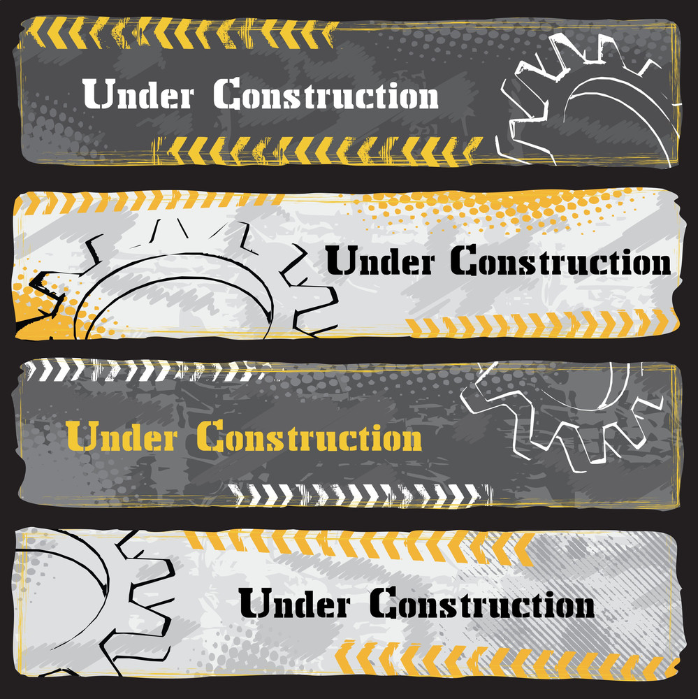 Under Construction Banners - Dark