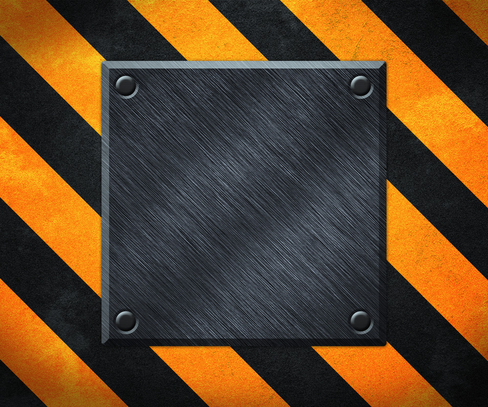 Under Construction Metal Plate Background