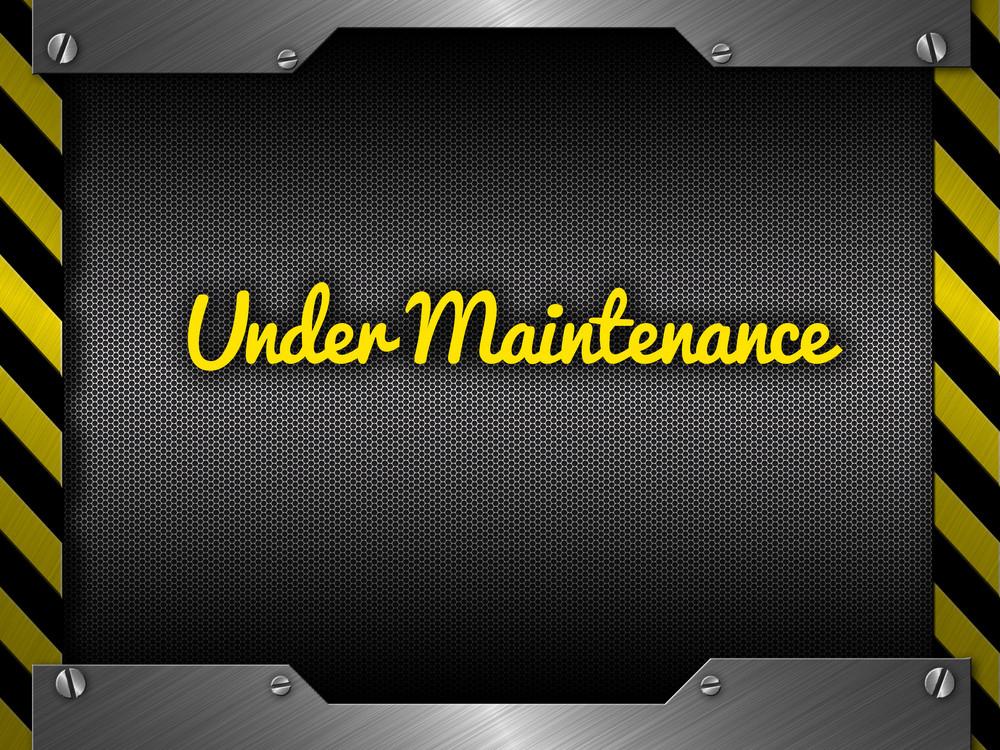 Under Maintenance Website Banner Design