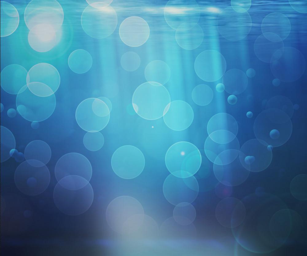 Underwater Bokeh Background