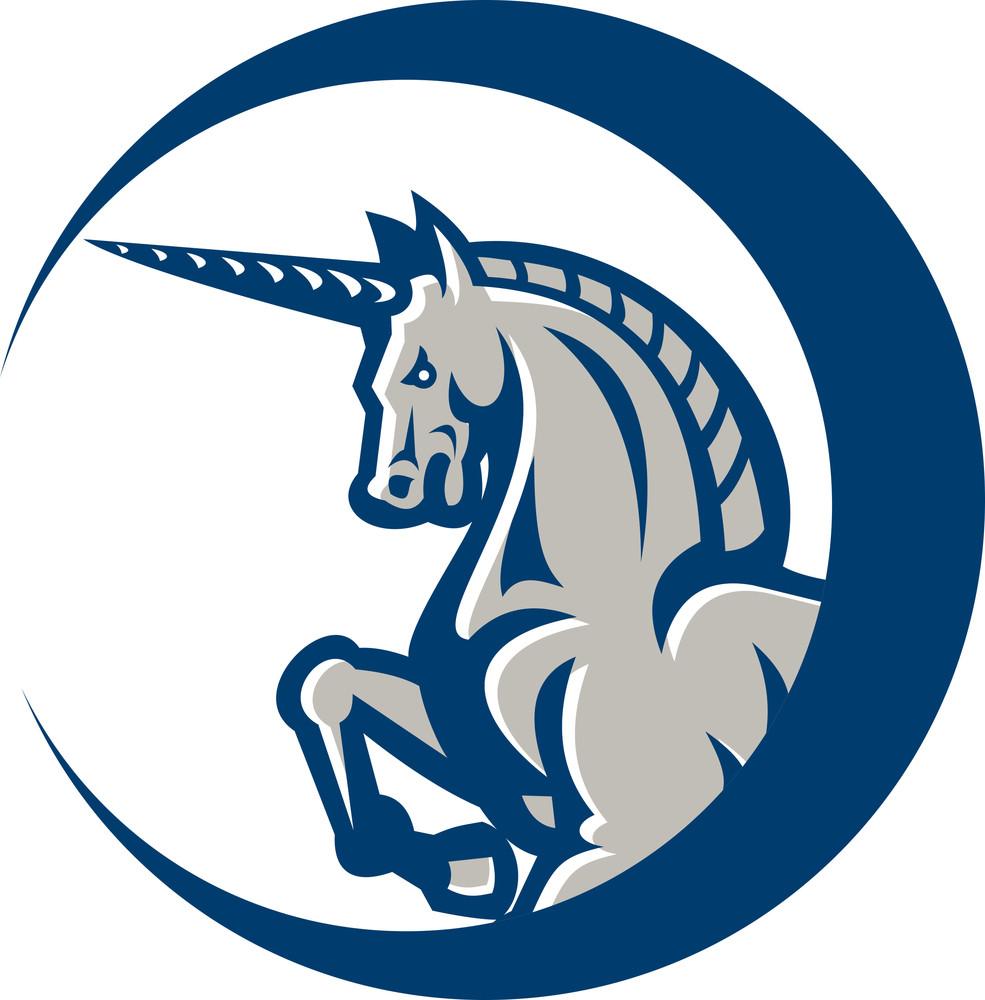 Unicorn Horse Prancing Side
