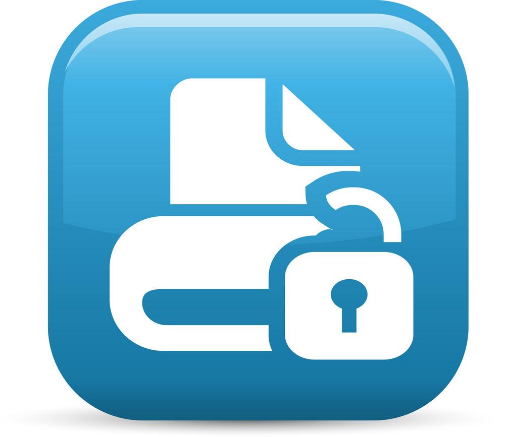 Unlock Drive Elements Glossy Icon