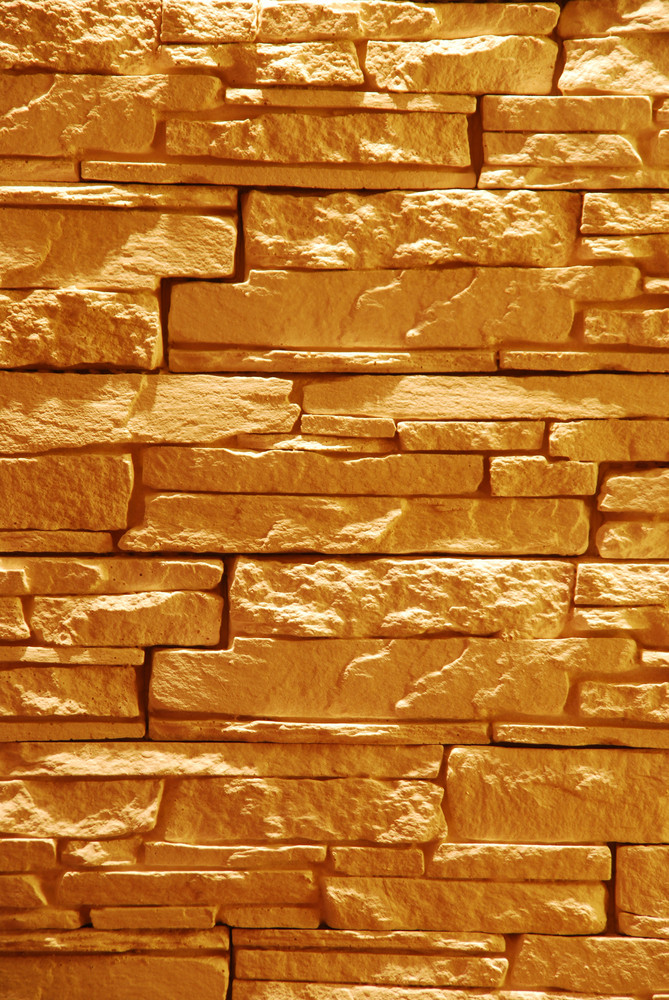 Unshaped Stone Wall (illuminated)