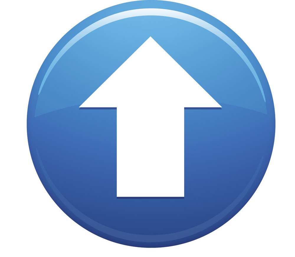 Up Arrorw Blue Circle