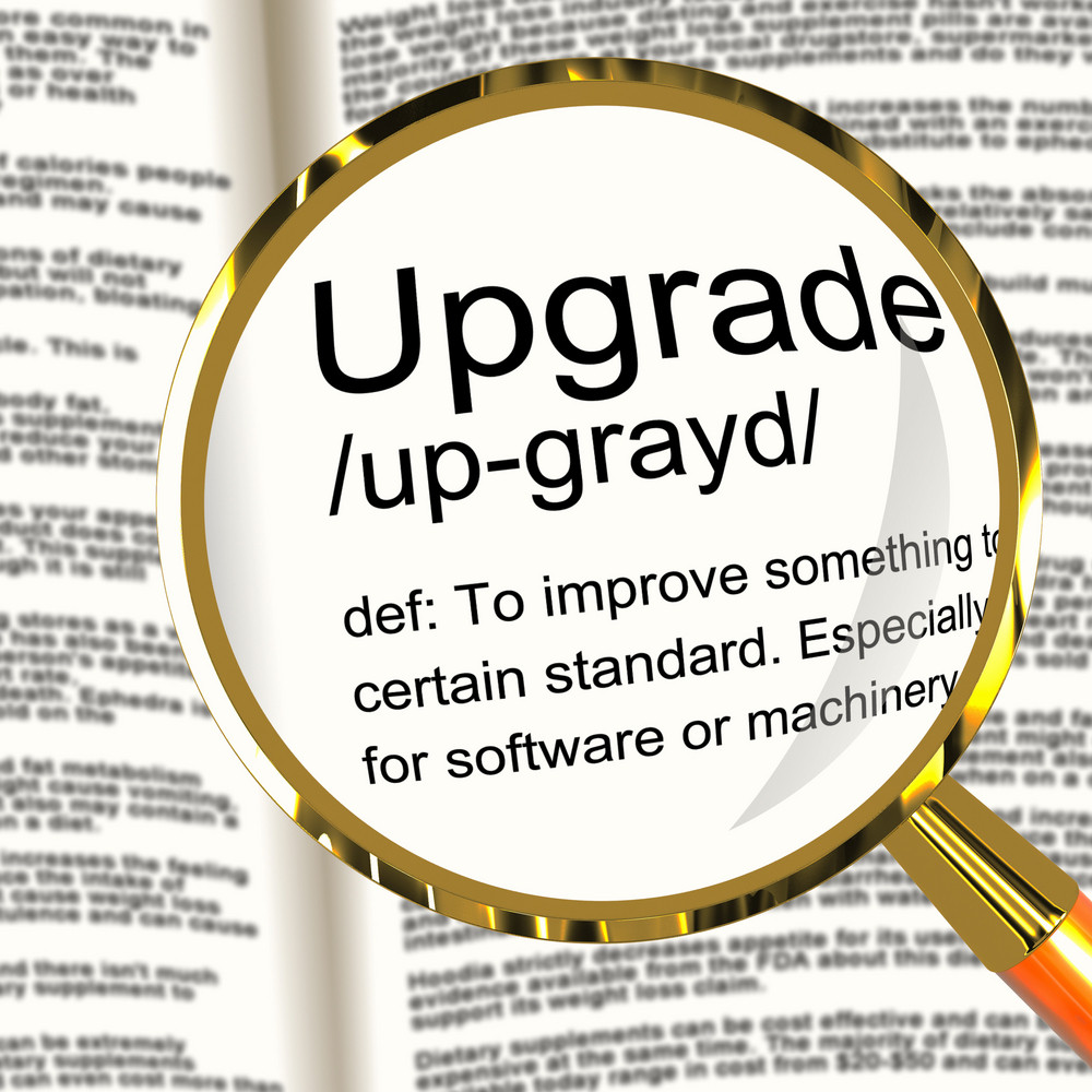 Upgrade Definition Magnifier Showing Software Update Or Installation Fix